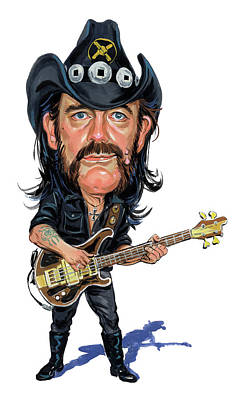 Celebrities Royalty-Free and Rights-Managed Images - Lemmy Kilmister by Art