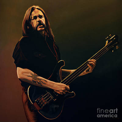 Celebrities Painting - Lemmy Kilmister Painting by Paul Meijering