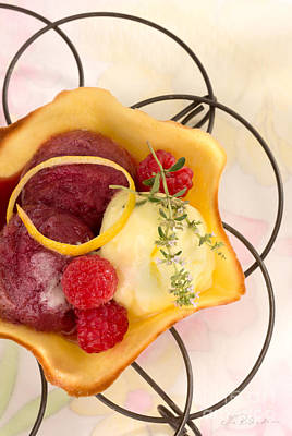 Sorbet Photograph - Lemon And Berry Sorbet  by Iris Richardson
