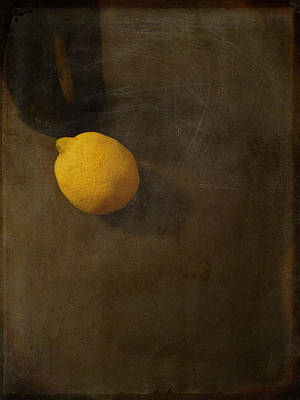 Photograph - Lemon And Bottle by Lin Haring