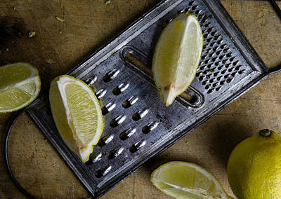 Limes Photograph - Lemon And Grater by Nailia Schwarz