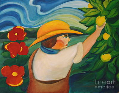 Lemon And Hibiscus Art Print by Teresa Hutto