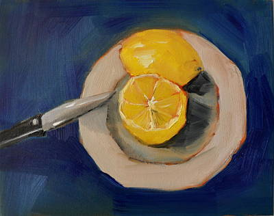 Painting - Lemon And One Half by Lindsay Frost