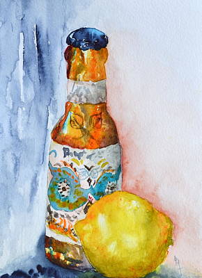 Lemon And Pilsner Original by Beverley Harper Tinsley