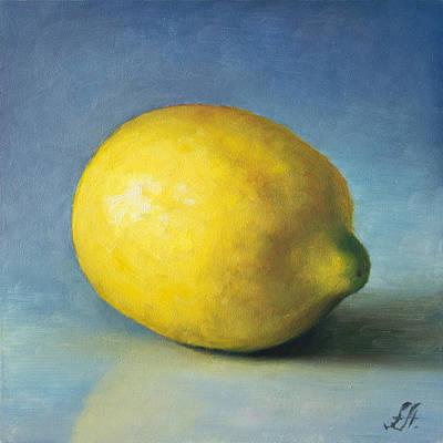 Lemon Painting - Lemon by Anna Abramska
