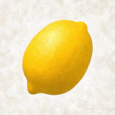 Isolated Painting - Lemon  by Danny Smythe