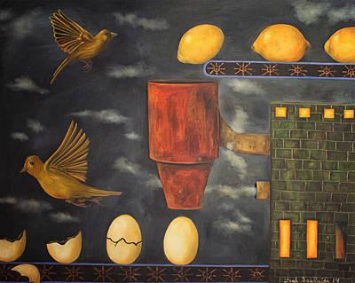 Change Painting - Lemon Dream Edit 2 by Leah Saulnier The Painting Maniac