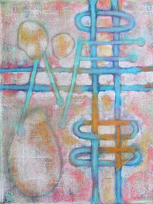 Lemon Drops Painting - Lemon Drops And Transparent Rhythms by Maria Huntley