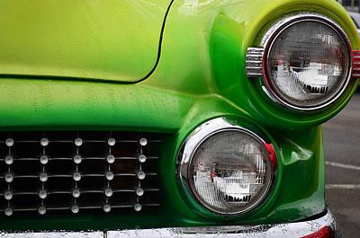 Photograph - Lemon Lime Chevy 4 by Fraida Gutovich