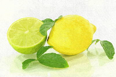 Lemon-lime Art Print