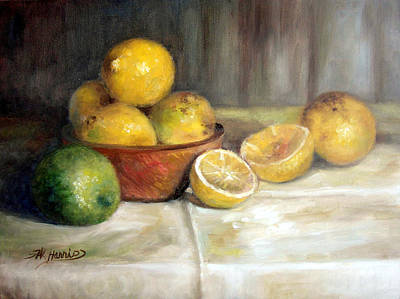 Lemon Lime Art Print by Sharen AK Harris