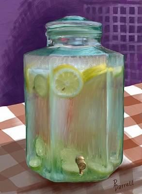 Lemon Limeade Art Print by Ric Darrell