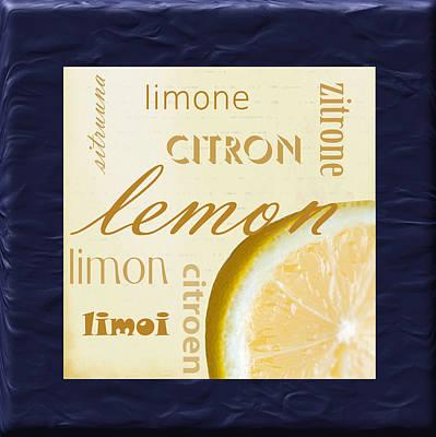 Translate Digital Art - Lemon by Marti Snider