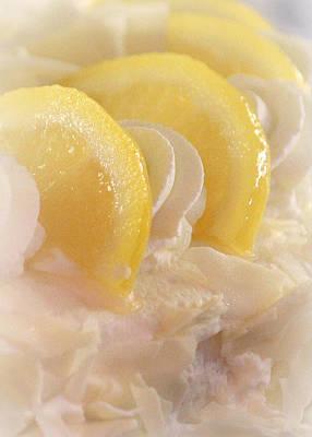 Lemon Photograph - Lemon Mousse Cake by The Art Of Marilyn Ridoutt-Greene