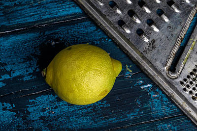 Grate Photograph - Lemon by Nailia Schwarz