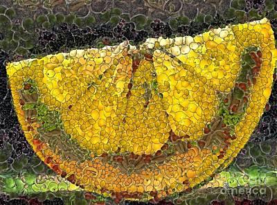 Lemon Slice Art Print by Dragica  Micki Fortuna
