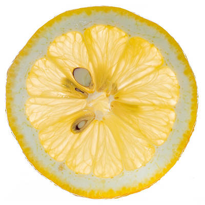 Photograph - Lemon Slice by Steve Gadomski