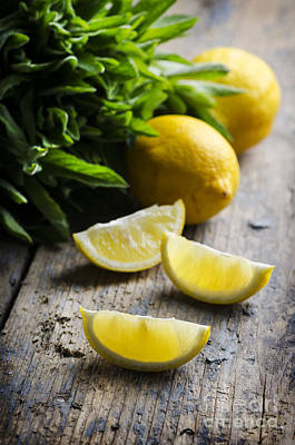 Lemonade Photograph - Lemon Slices by Jelena Jovanovic
