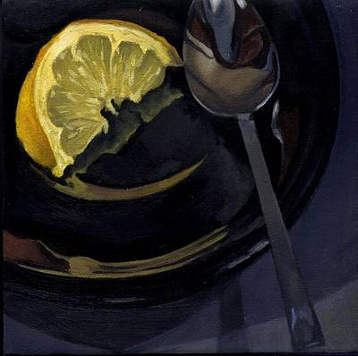 Still Painting - Lemon Spoon by Rick Liebenow