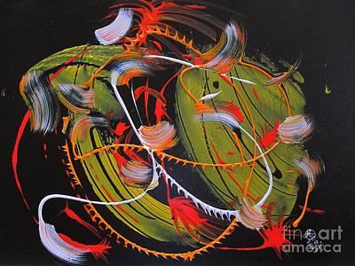Yello Painting - Lemon Strokes by Julie Crisan