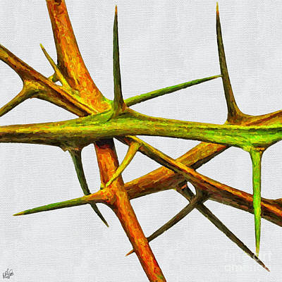 Painting - Lemon Thorns by Walt Foegelle