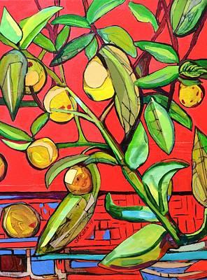 Fruit Mixed Media - Lemon Tree  by Jacqueline Kern