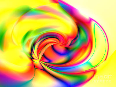 Digital Art - Lemon Twirl by Kristi Kruse