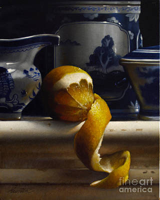 Canton Painting - Lemon With Canton Vertical by Larry Preston