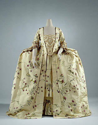Lemon Drawing - Lemon Yellow Gown Rips Silk Embroidered With Silk Vines by Quint Lox