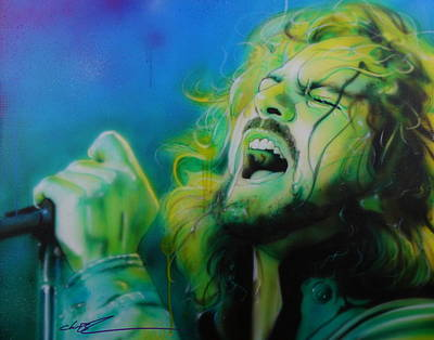Contemporary Painting - Eddie Vedder - ' Lemon Yellow Sun ' by Christian Chapman Art