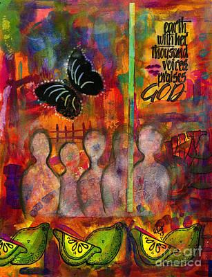 Mixed Media - Lemonade Punch by Angela L Walker