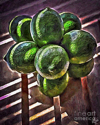 Painting - Lemons 4405 by Walt Foegelle