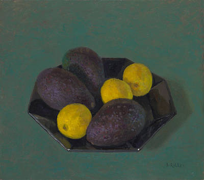 Painting - Lemons And Avocados by Ben Rikken