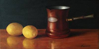 Painting - Lemons And Copper by Diane Reeves