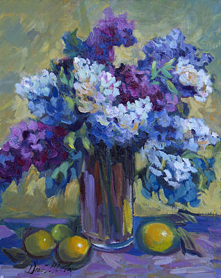 Painting - Lemons And Lilacs by Diane McClary