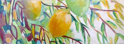 Painting - Lemons And Lime by Shelley Overton