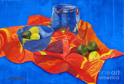 Pitcher Painting - Lemons And Limes by Sandy Linden
