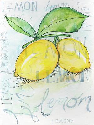 Lemon Painting - Lemons by Anne Seay