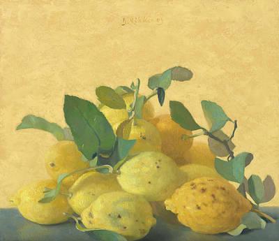 Painting - Lemons by Ben Rikken