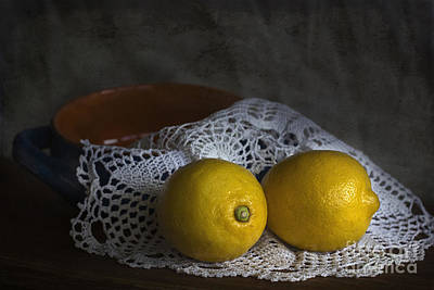 Lemons Print by Elena Nosyreva