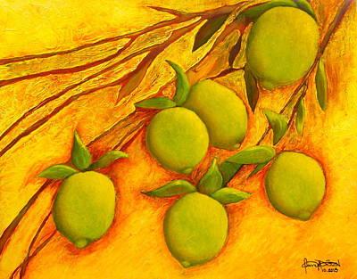 Painting - Lemons by Fanny Diaz