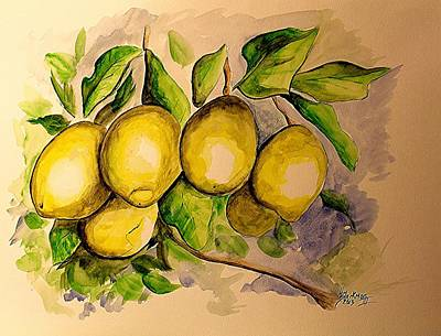 Painting - Lemons by Henry Blackmon
