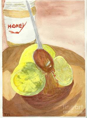 Painting - Lemons In Honey by Tracey Williams