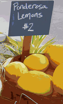 Lemons Art Print by Karyn Robinson