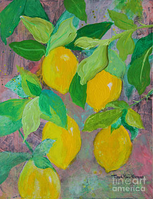 Painting - Lemons On Lemon Tree by Robin Maria Pedrero