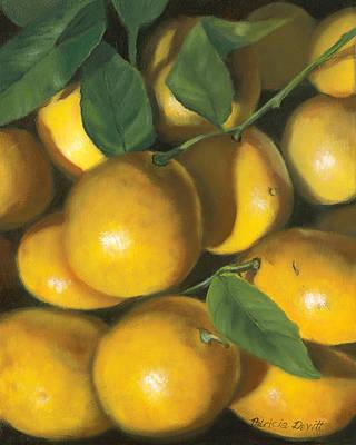 Lemon Painting - Lemons by Patricia Devitt