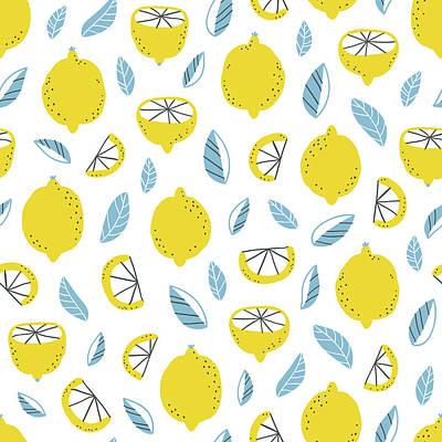 Digital Art - Lemons Pattern by Stolenpencil