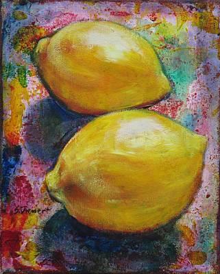 Lemons Art Print by Sheila Diemert