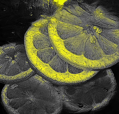 Photograph - Lemon Slices by David Pantuso