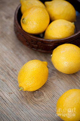 Fruit Bowl Photograph - Lemons by Viktor Pravdica